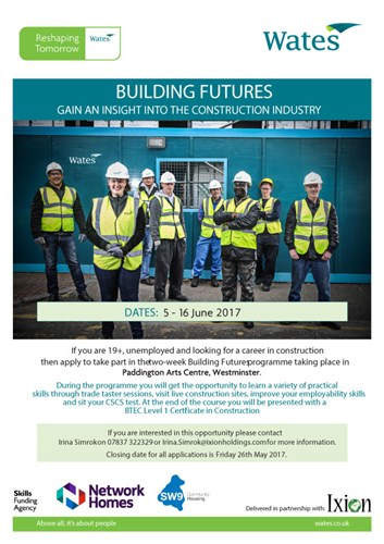 Wates Building Futures Programme Poster
